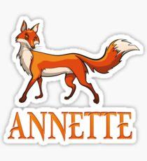 Annette Fox Sticker