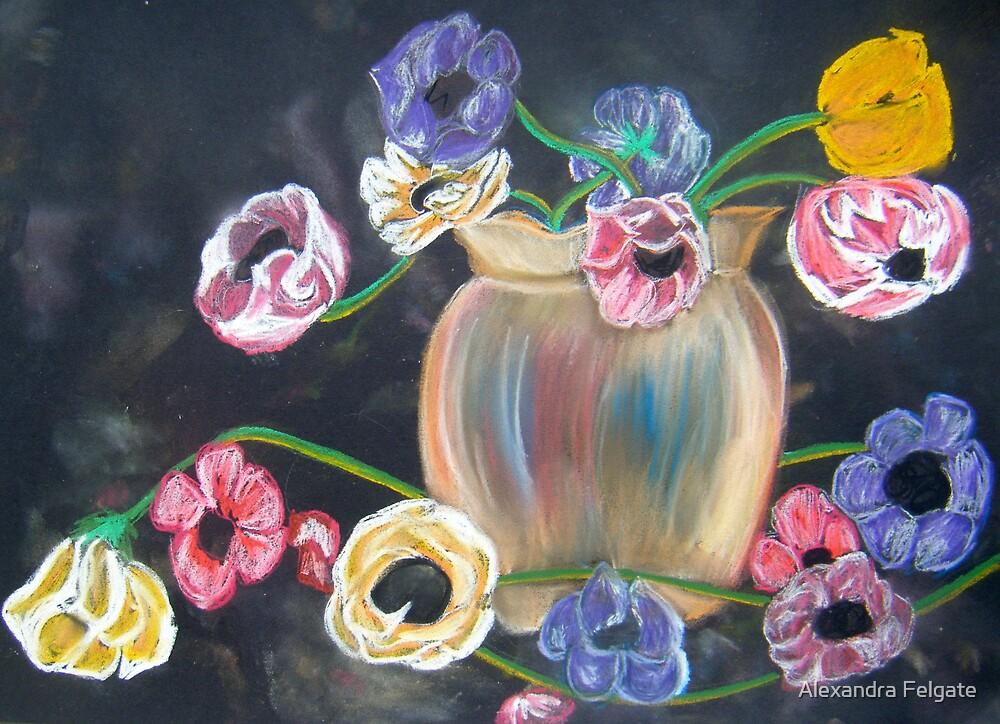 Anemones in Vase by Alexandra Felgate