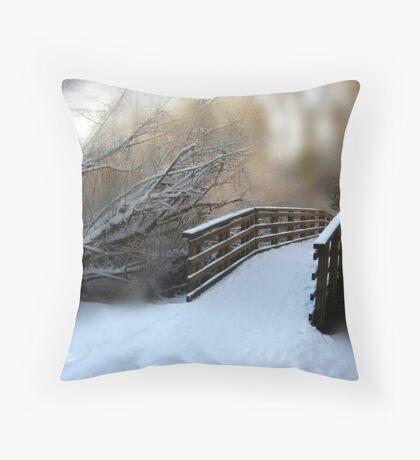 let's walk Throw Pillow