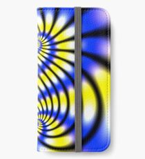Double Spiral Yellow Blue iPhone Wallet/Case/Skin