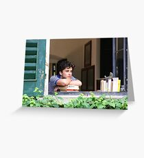 Call Me By Your Name - Timothée Chalamet Greeting Card