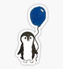 Cute Penguin with Blue Balloon Sticker