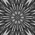 Black & White Kaleidoscope Leggings by fantasytripp