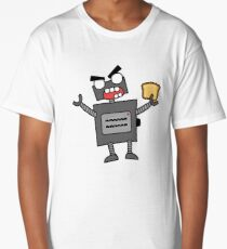 angry zombie robot toaster Long T-Shirt