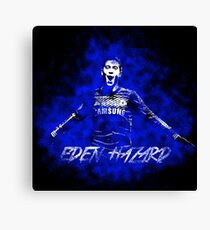 Eden Hazard Grunge Design Canvas Print
