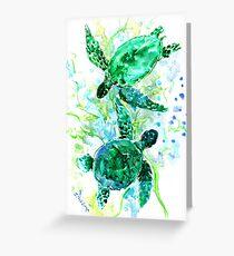 Tarjeta de felicitación Tortugas de mar