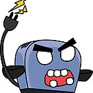angry zombie toaster by shortstack