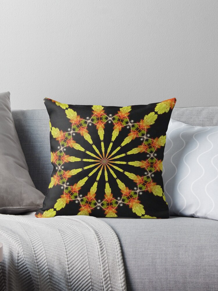 lovely lemon and orange on black mandala. by MarilynBaldey7