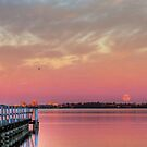 Full Moon Rising over Tuggerah Lake by Mike Salway