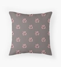 Painted Pink Roses Throw Pillow