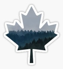 Blue Forest - Canadian Maple Leaf Sticker