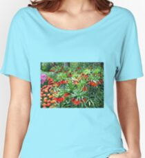 Orange Crown Imperials - Quintessentially Keukenhof Women's Relaxed Fit T-Shirt