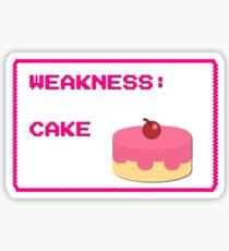 CAKE is my weakness Sticker