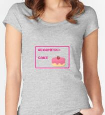 CAKE is my weakness Women's Fitted Scoop T-Shirt