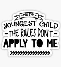 youngest child Sticker