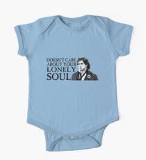 Body de manga corta para bebé ¿A quién le importa tu alma solitaria?