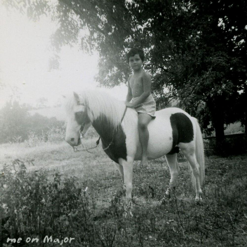 me & Major ~ a stallion Shetland by boondockMabel