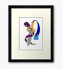 Ekans and Honedge - Snake and Dagger Framed Print