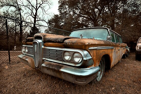 Abandoned 1959 Edsel Villager Wagon 1 By Mal Photography