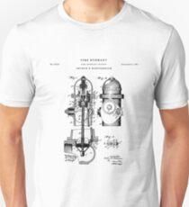 Fire Hydrant Patent Drawing Blueprint Unisex T-Shirt