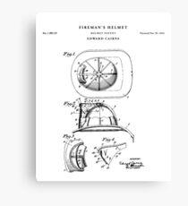 Fireman Patent Drawing Blueprint Canvas Print