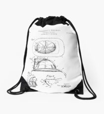 Fireman Patent Drawing Blueprint Drawstring Bag