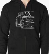 Toyota supra best design Zipped Hoodie