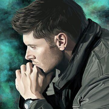 Dean Winchester by chloeroseart