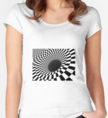 Optical Illusion, Visual Illusion,  Cognitive Illusions, #OpticalIllusion, #VisualIllusion,  #CognitiveIllusions, #Optical, #Illusion, #Visual, #Cognitive, #Illusions Women's Fitted Scoop T-Shirt