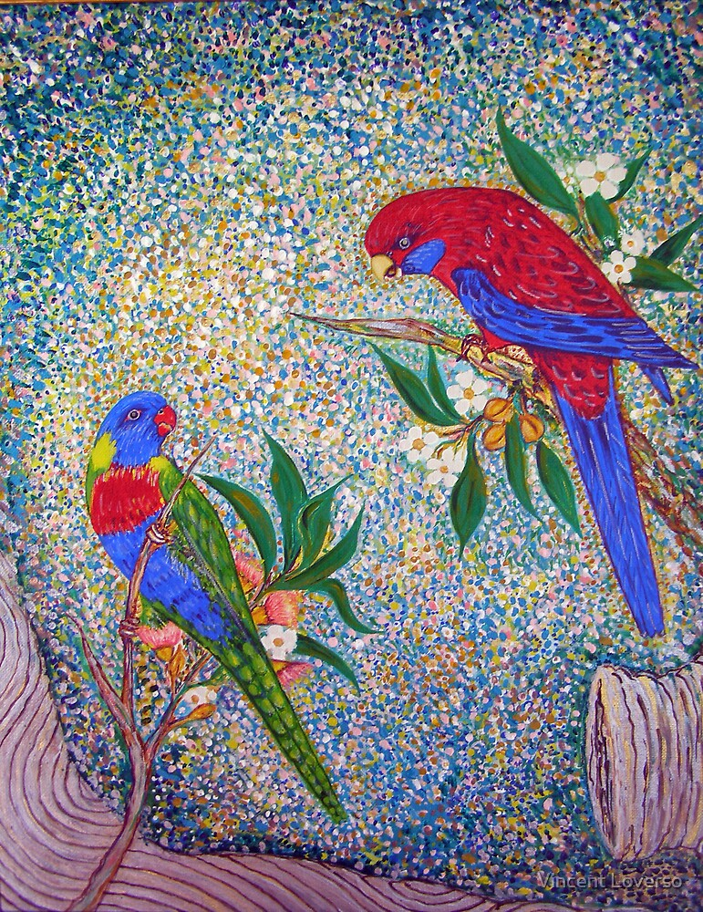 Eastern Rosellas by Vincent Loverso