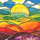 Colourful sunrise by Miles Design Art