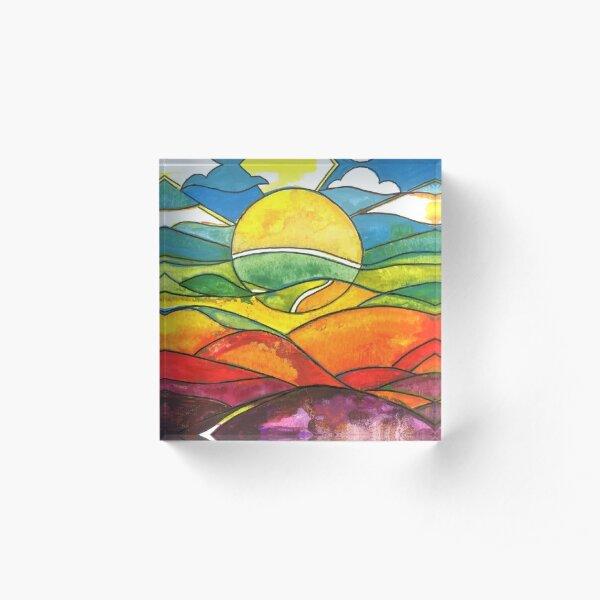 Colourful sunrise Acrylic Block