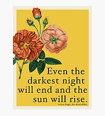 Les Miserables Quote Photographic Print