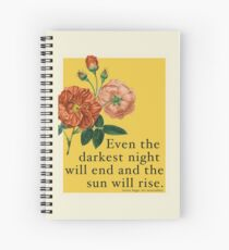 Les Miserables Quote Spiral Notebook