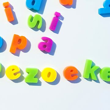 Fridge magnet letters spell opa bezoeken by stuwdamdorp