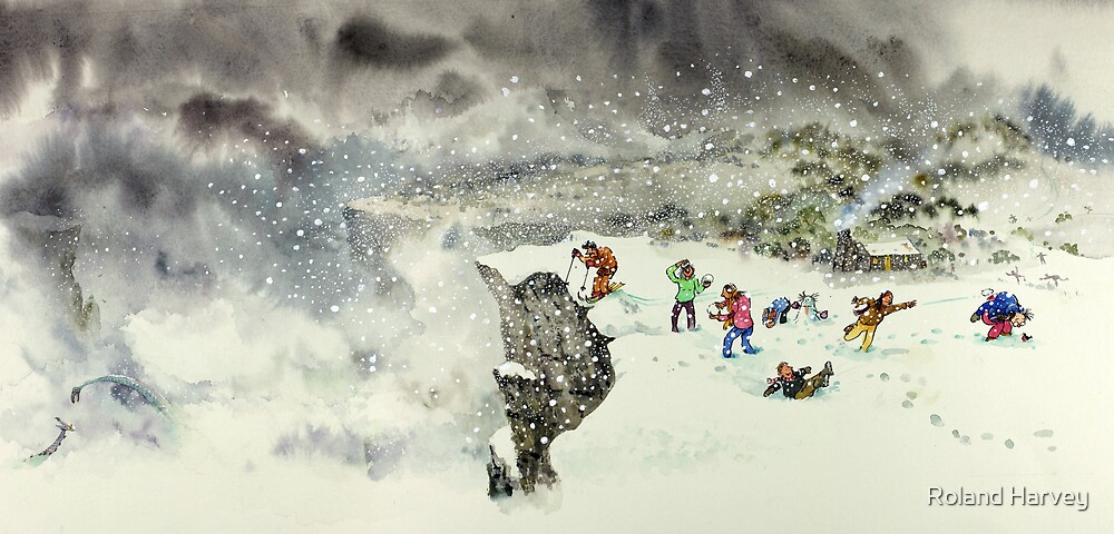 In the Snow by Roland Harvey