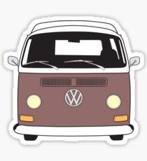EB Camper Front Brown Sticker