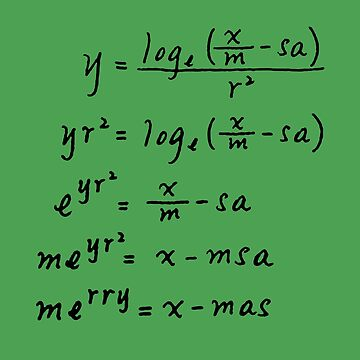 Merry Xmas Mathematics by viCdesign