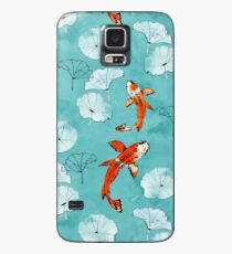 Waterlily koi in turquoise Case/Skin for Samsung Galaxy