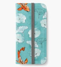 Waterlily koi in turquoise iPhone Wallet/Case/Skin