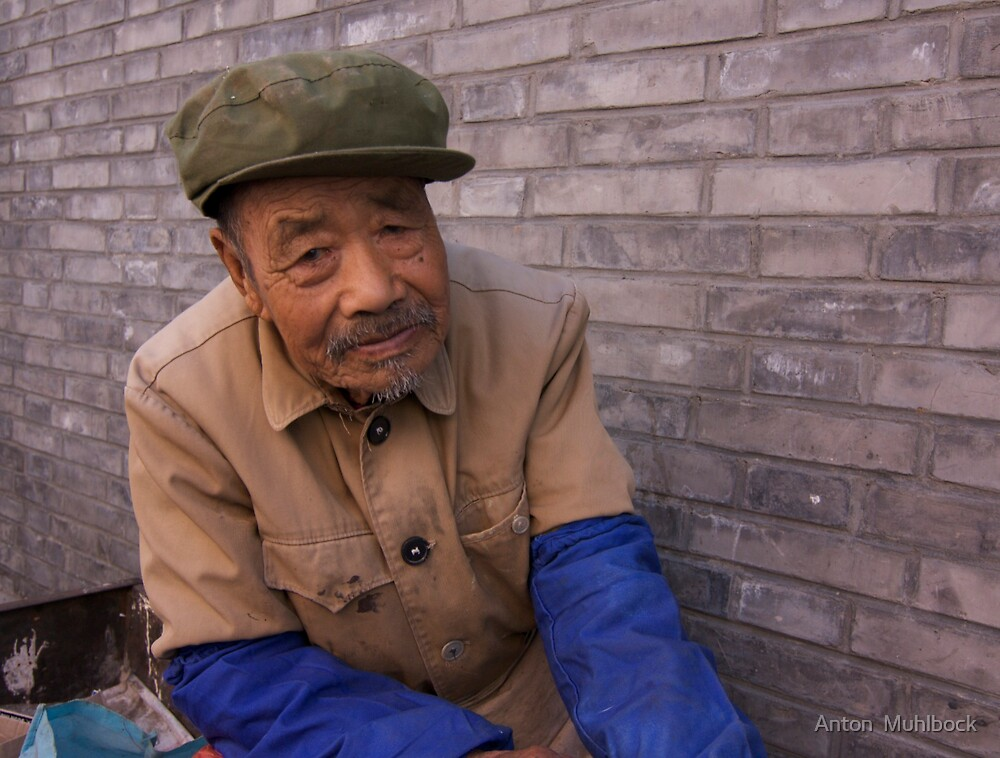 a very approachable Person it was in a market in Beijing by Anton  Muhlbock