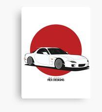 Mazda RX7 (Rising Sun) Canvas Print