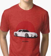 Mazda RX7 (Rising Sun) Tri-blend T-Shirt