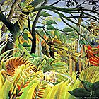 Rousseau - Tiger in a Tropical Storm Surprised by virginia50