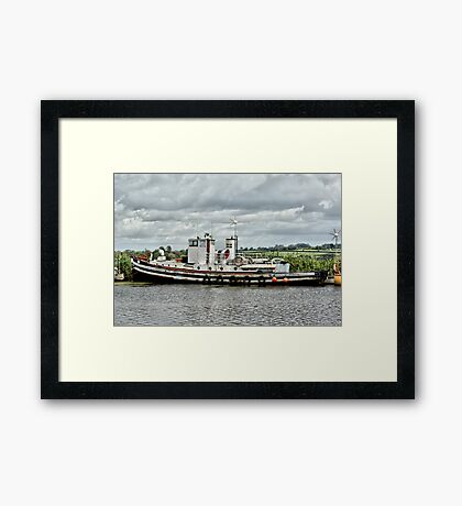 Tied up at the Moment Framed Print