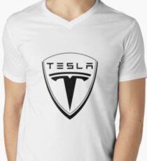 tesla motors car Men's V-Neck T-Shirt