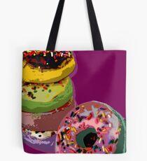 6 donuts Pop Art print Tote Bag