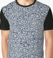 Blue floral seamless vintage pattern.  Graphic T-Shirt