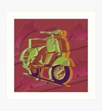 Custom pop art - Vespa Art Print
