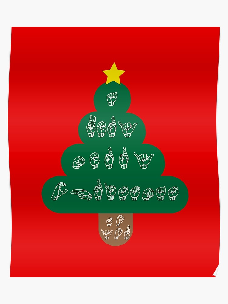 Very Merry Christmas.Asl A Very Merry Christmas To You Sign Language Poster